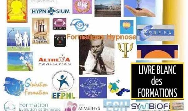 Formations Hypnose, Formations en Hypnose Ericksonienne, tableau synoptique des différents cursus de formation en hypnose